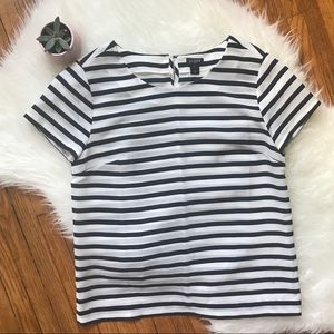 J. Crew - Navy & White Striped Blouse - Size XS